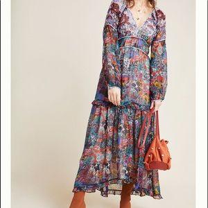 Anthropologie Maeve Annabella Maxi Dress size 12